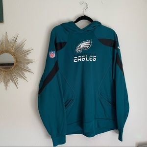 Philadelphia Eagles Football Green Hoodie Large